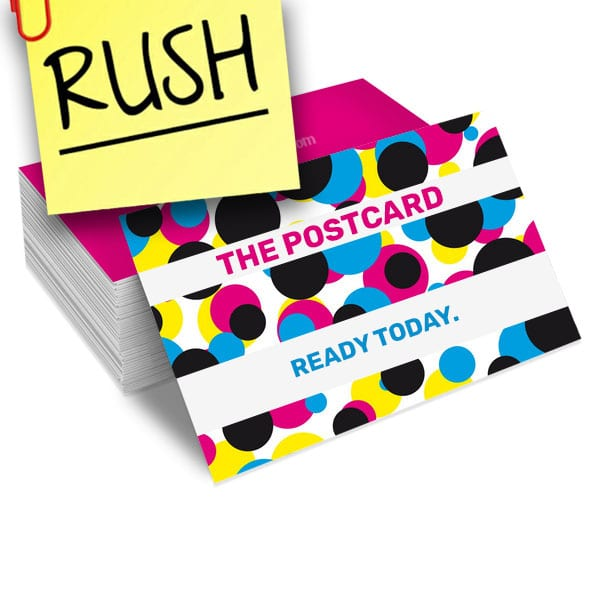Constant Prin RUSH Postcards Fast Printing Same Day Next Day 14pt 16pt 17pt silk or glossy 4x6 5x7 all EDDM sizes available